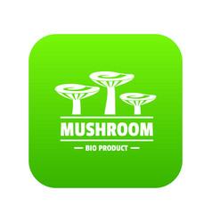 mushroom bio organic icon green vector image