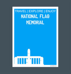 National flag memorial rosario argentina monument vector