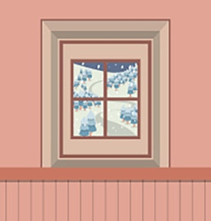 Natural Landscape View Through The Window vector image