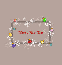 new year square frame vector image