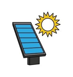 Panel solar energy alternative icon vector