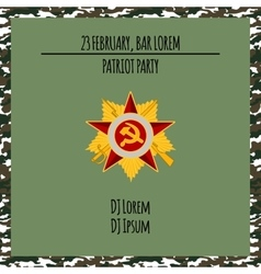 Patriot party poster with red star vector
