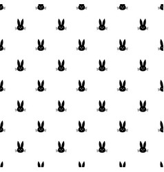 pattern with rabbit heads vector image