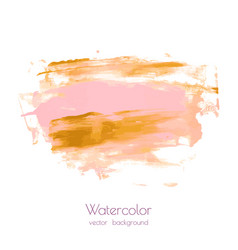 Pink gold hand paint ink texture background vector