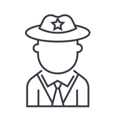 policeman line icon sign on vector image