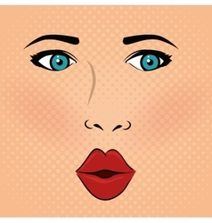 pop art comic design vector image