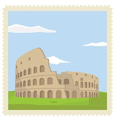 Post stamp colosseum vector image