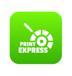 print express icon green vector image