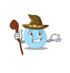 Raindrop sneaky and tricky witch cartoon character vector