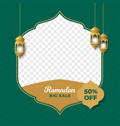 Ramadan big sale social media poster promotion vector