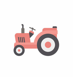 Red tractor icon vector