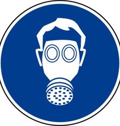 Respirator Must Be Worn Safety Sign vector image