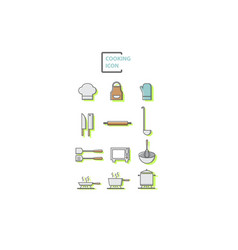 Set of cooking vector
