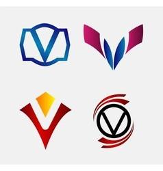 Set of Decorative Letter u - Icons Logo and Elemen vector
