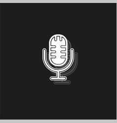 simple microphone icon vector image