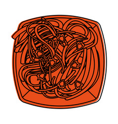 Spaguetti or noodles food icon image vector