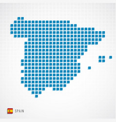 spain map and flag icon vector image