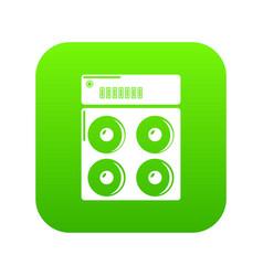 speaker box icon green vector image