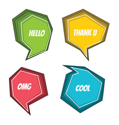 speech bubble colorful set vector image