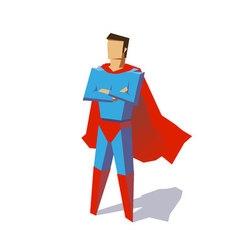 Super hero minimalist design vector image