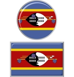 Swaziland round and square icon flag vector