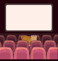 teddy bears are watching a movie vector image