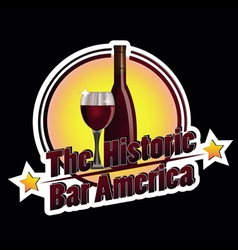 The Historic Bar America vector image