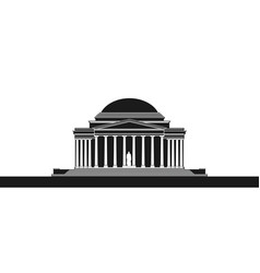 the jefferson monument vector image