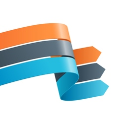 Three infographic elements ribbons arrows isolated vector