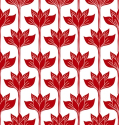 Abstract background with red flowers vector image