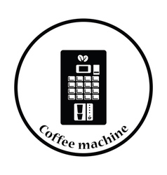 Coffee selling machine icon vector image
