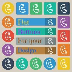 handset icon sign Set of twenty colored flat round vector image