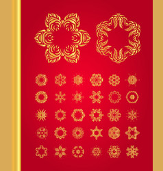 original christmas decoration set vector image