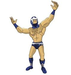 Wrestler Star vector image
