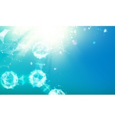 Abstract molecules of triangles vector image