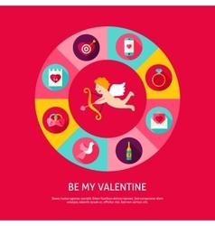 Be My Valentine Concept vector image