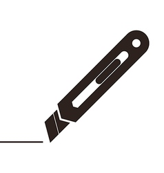 Utility knife sign vector image