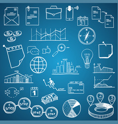 business and economy finance web and internet vector image vector image