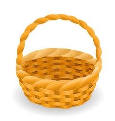Wicker basket icon symbol vector image vector image