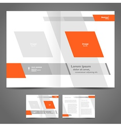 brochure design booklet template geometric abstrac vector image vector image