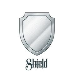 Empty metal shield vector image