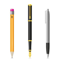 set icons pen and pencil 01 vector image vector image