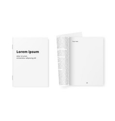 white clean paper journal ready for your text vector image vector image