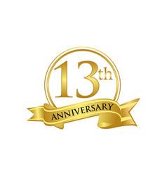 13th anniversary celebration logo vector image