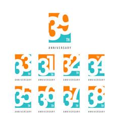 39 th anniversary celebration logo template design vector