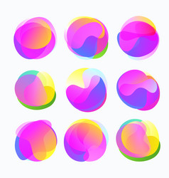 Abstract color forms gradient fluid circles in vector