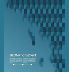 Abstract geometric background from blue slips of vector