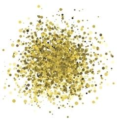 Abstract of random golden dots vector image