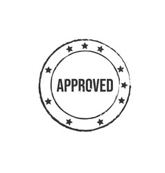 approved black grunge round vintage rubber stamp vector image