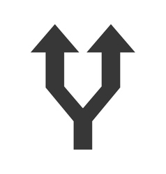 Arrows up with two different ways symbol vector